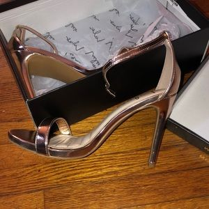 Lulu heels rose gold